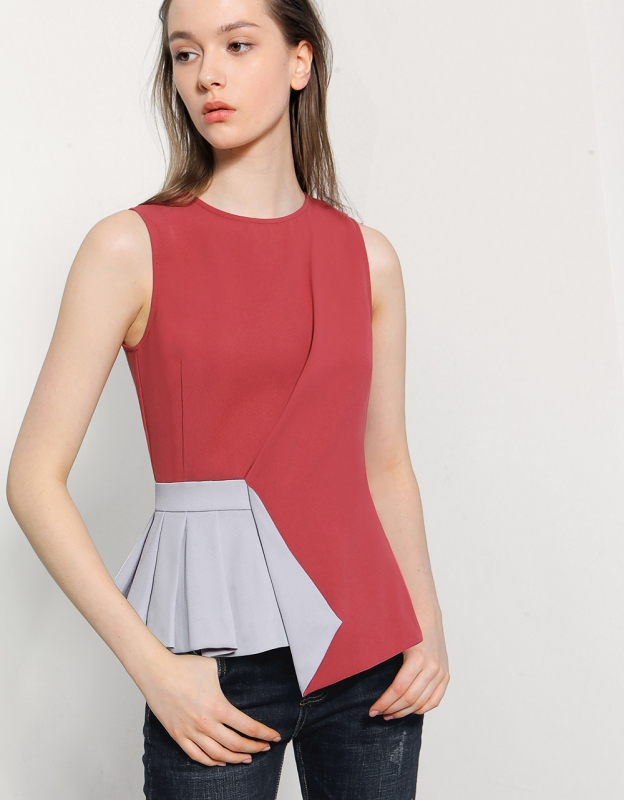 Asymmetric Origami Top Saturdayclub